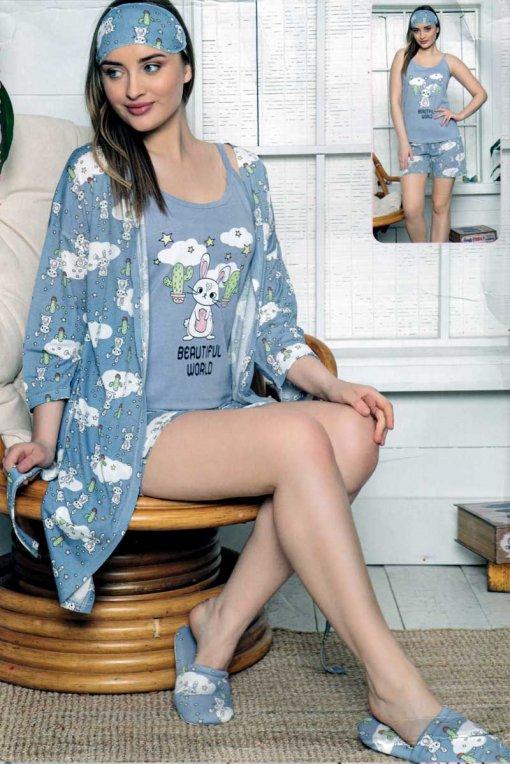 komplet pidžama + ogrtač 13533  lindros