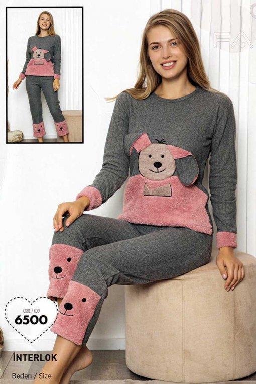 ženska topla pidžama 6500 falkon