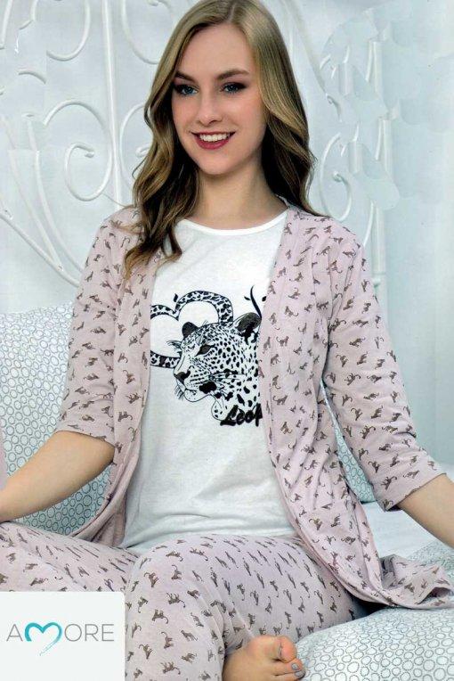 Komplet Ženska pidžama + ogrtač  511 baki