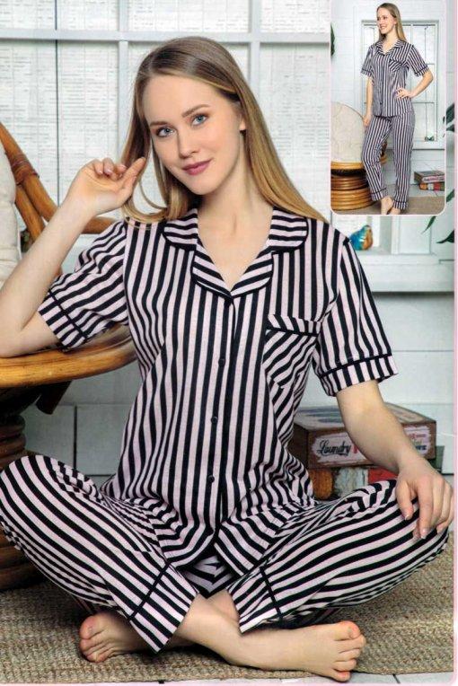 ženska pidžama 12645  lindros roza