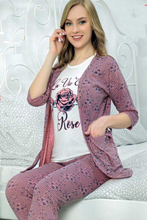 komplet ženska pidžama + ogrtač 509 baki