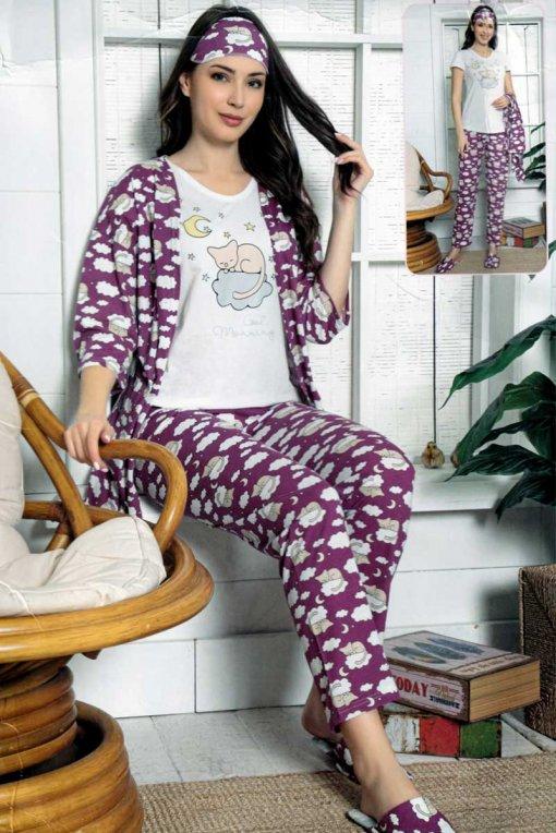 komplet pidžama + ogrtač 13529 lindros