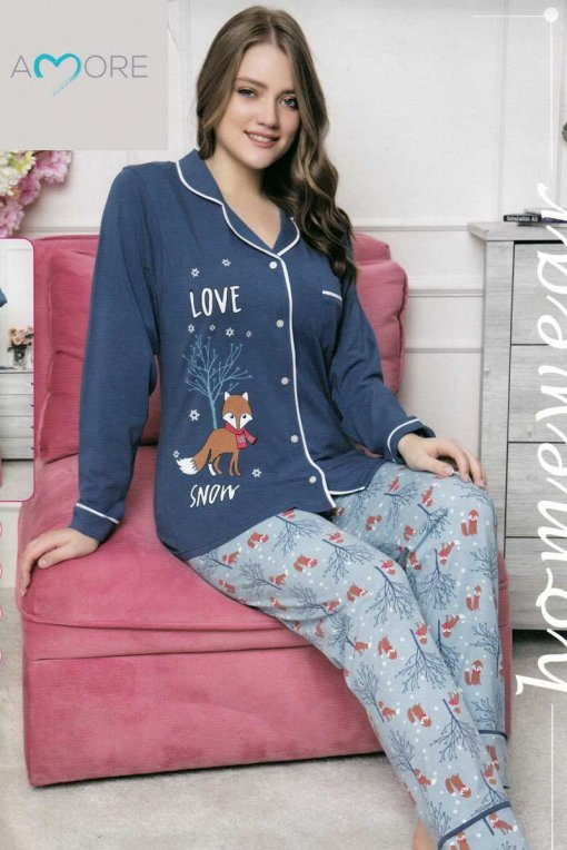 ženska pidžama 12986 lindros