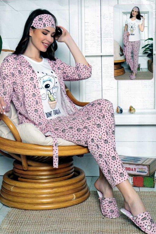komplet pidžama + ogrtač 13546 lindros