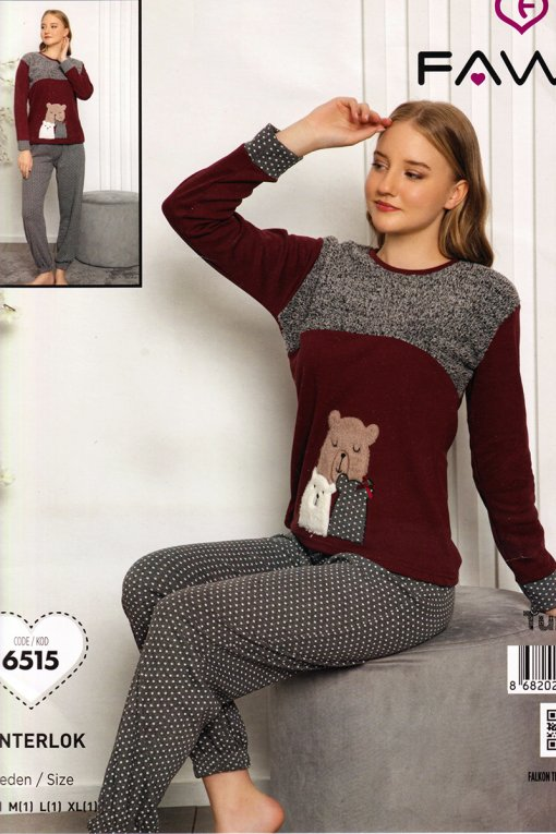 ženska topla pidžama 6515 int falkon