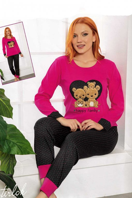 ženska topla pidžama 7623  lindros